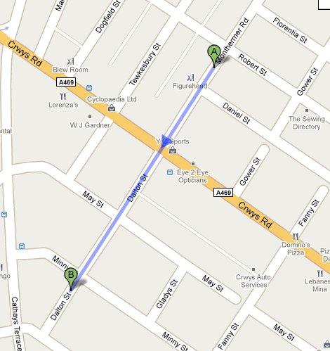 Directions to Dalton Street